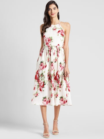 plusS Women Off-White Printed Fit and Flare Dress plusS Dresses at myntra