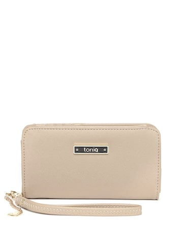 ToniQ Women Beige Solid Two Fold Wallet ToniQ Wallets at myntra