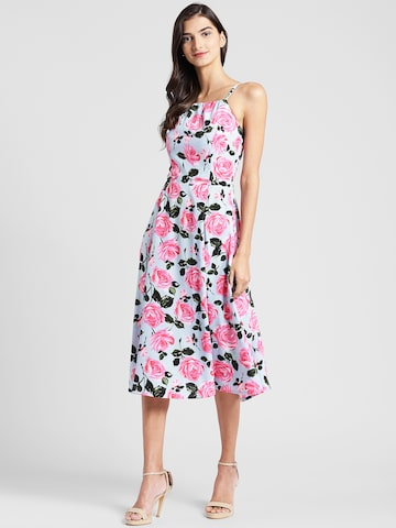 plusS Women Multicoloured Printed Fit and Flare Dress plusS Dresses at myntra