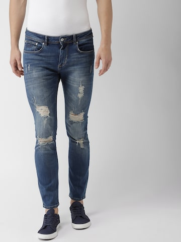 Superdry Men Blue Slim Fit Mid-Rise Mildly Distressed Stretchable Jeans Superdry Jeans at myntra