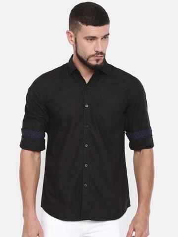 Lee Men Black Slim Fit Solid Casual Shirt Lee Shirts at myntra