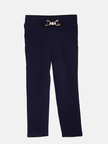 Tiny Girl Navy Blue Solid Treggings Tiny Girl Jeggings at myntra