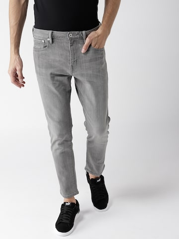 Superdry Men Grey Slim Fit Mid-Rise Clean Look Stretchable Jeans Superdry Jeans at myntra