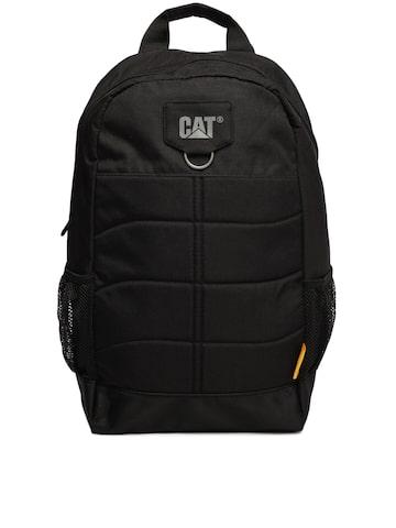 CAT Unisex Black Solid Benji Backpack CAT Backpacks at myntra