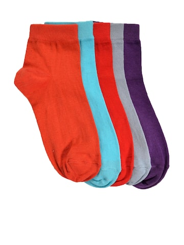 Marc Women Multi Pack of 5 Ankle-Length Thumb Socks MARC Socks at myntra