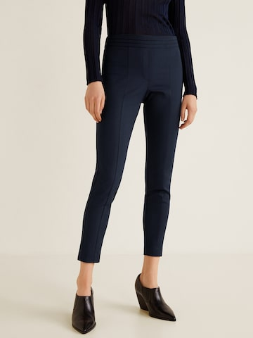 MANGO Women Navy Blue Solid Treggings MANGO Jeggings at myntra