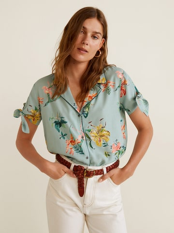 MANGO Women Green Floral Print Casual Shirt MANGO Shirts at myntra