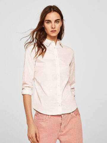 MANGO Women Pink Regular Fit Solid Casual Shirt MANGO Shirts at myntra