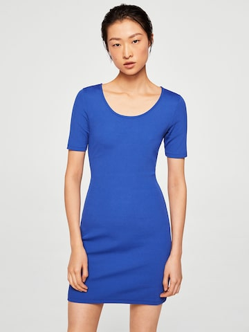 MANGO Women Blue Solid Bodycon Dress MANGO Dresses at myntra