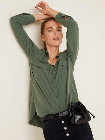 MANGO Women Olive Green Regular Fit Solid Casual Shirt MANGO Shirts at myntra