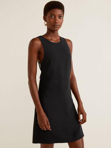 MANGO Women Black Solid Styled Back Sheath Dress MANGO Dresses at myntra