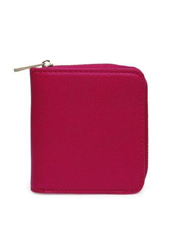 Accessorize Women Fuchsia Solid Zip Around Wallet Accessorize Wallets at myntra
