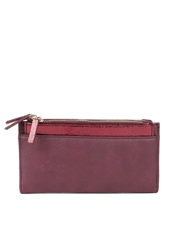 Accessorize Women Burgundy Solid Two Fold Wallet Accessorize Wallets at myntra