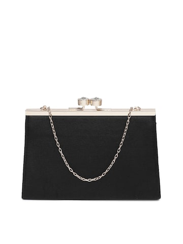 Accessorize Black Solid Clutch Accessorize Clutches at myntra