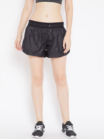 Stella McCartney by Adidas Women Black Printed Run ADIZERO M10 Running Shorts Adidas Shorts at myntra