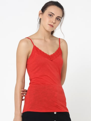 ONLY Women Red Solid Top ONLY Tops at myntra