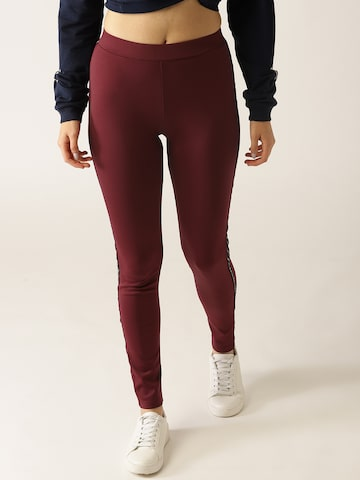 United Colors of Benetton Maroon Leggings United Colors of Benetton Leggings at myntra