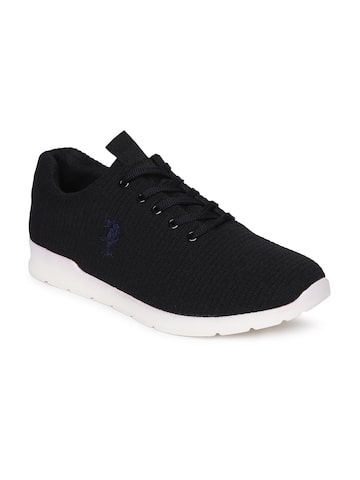 U.S. Polo Assn. Men Black Sneakers U.S. Polo Assn. Casual Shoes at myntra