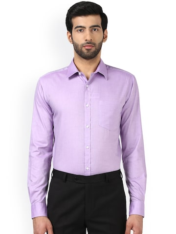 Park Avenue Men Purple Slim Fit Self Design Formal Shirt Park Avenue Shirts at myntra