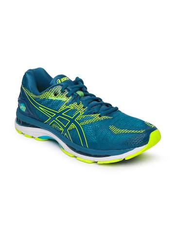 ASICS Men Teal Blue GEL-NIMBUS 20 Running Shoes ASICS Sports Shoes at myntra