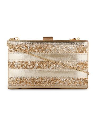 Berrypeckers Gold-Toned Embellished Clutch Berrypeckers Clutches at myntra