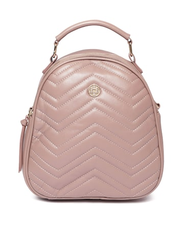 Lisa Haydon for Lino Perros Women Dusty Pink Quilted Backpack Lino Perros Backpacks at myntra