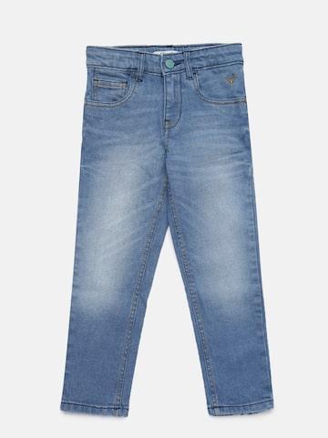 Allen Solly Junior Boys Blue Regular Fit Mid-Rise Clean Look Jeans Allen Solly Junior Jeans at myntra