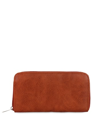 Anekaant Women Brown Solid Zip Around Wallet Anekaant Wallets at myntra