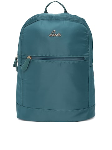 Lavie Women Teal Solid Backpack Lavie Backpacks at myntra