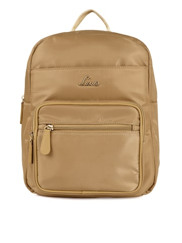 Lavie Women Brown Solid Backpack Lavie Backpacks at myntra