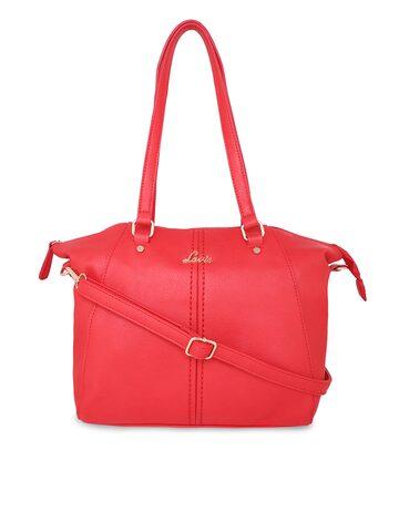Lavie Coral Red Solid Shoulder Bag Lavie Handbags at myntra
