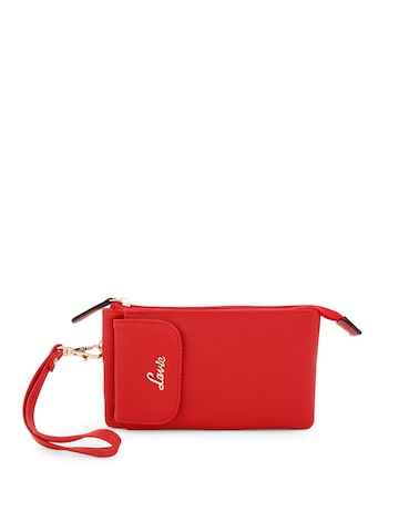 Lavie Women Red Textured Money Clip Wallet Lavie Wallets at myntra
