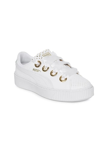 Puma Women White Platform Kiss Ath Lux Sneakers Puma Casual Shoes at myntra