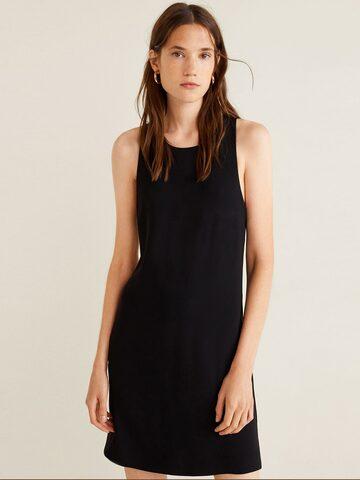 MANGO Women Black Solid Shift Dress MANGO Dresses at myntra