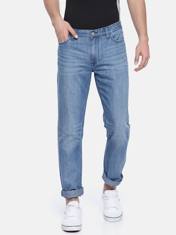 Calvin Klein Jeans Men Blue Slim Straight Fit Mid-Rise Clean Look Jeans Calvin Klein Jeans Jeans at myntra