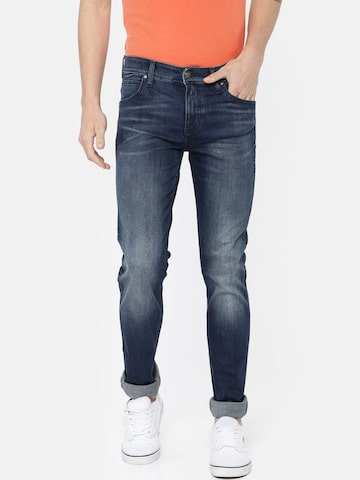 Calvin Klein Jeans Men Blue Slim Fit Mid-Rise Clean Look Stretchable Jeans Calvin Klein Jeans Jeans at myntra