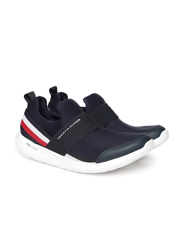 Tommy Hilfiger Men Navy Blue Slip-On Sneakers Tommy Hilfiger Casual Shoes at myntra