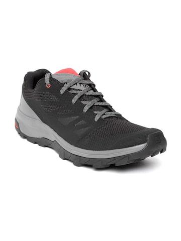 Salomon Men Black & Grey Trekking Shoes Salomon Sports Shoes at myntra