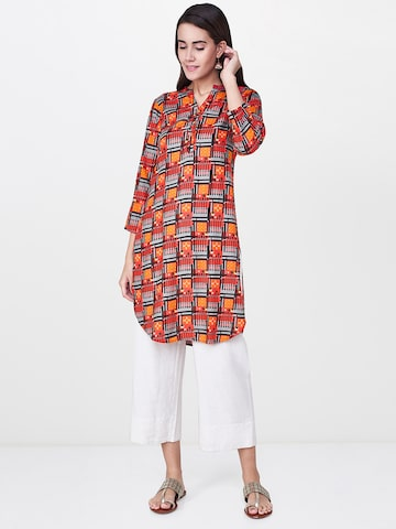 Global Desi Pink & Black Printed Tunic Global Desi Tunics at myntra
