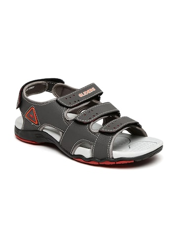 Liberty Men Grey Sandals at myntra