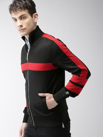 Tommy Hilfiger LEWIS HAMILTON Men Black Track Jacket Tommy Hilfiger Jackets at myntra