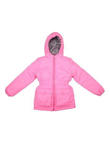 Allen Solly Junior Girls Pink Solid Puffer Jacket Allen Solly Junior Jackets at myntra