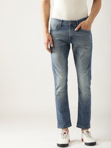 United Colors of Benetton Men Blue Skinny Fit Mid-Rise Clean Look Stretchable Jeans United Colors of Benetton Jeans at myntra
