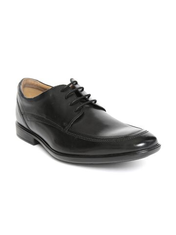 Clarks Men Black Leather Formal Derbys Clarks Formal Shoes at myntra
