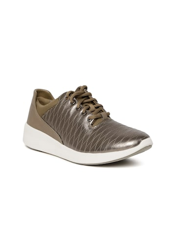 Clarks Men Bronze-Toned  Sneakers Clarks Casual Shoes at myntra