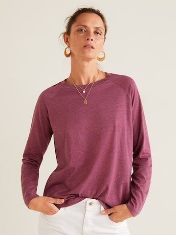 MANGO Women Pink Solid Round Neck T-shirt MANGO Tshirts at myntra