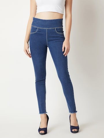 Miss Chase Women Blue Back to You Jeggings Miss Chase Jeggings at myntra