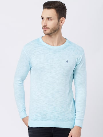 Killer Men Blue Solid Pullover Sweater Killer Sweaters at myntra