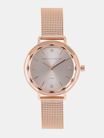 French Connection Women Silver-Toned Analogue Watch FC1318RGM French Connection Watches at myntra