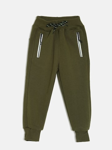 Little Kangaroos Boys Olive Green Joggers Little Kangaroos Track Pants at myntra